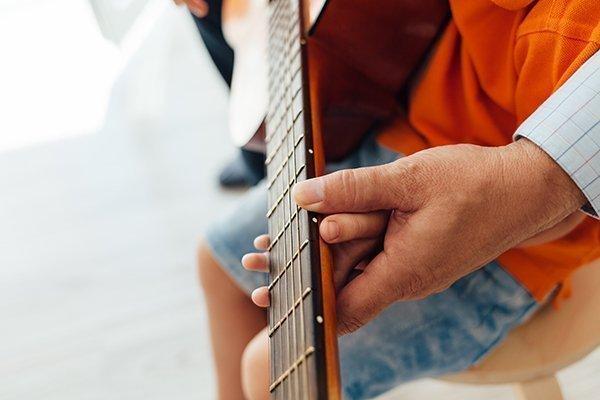 Guitar student Meadowlark Music Program